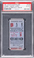 Baseball Collectibles:Tickets, 1951 Mickey Mantle New York Yankees vs. Houston BuffaloesExhibition Home Run Ticket Stub....