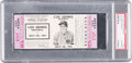 Baseball Collectibles:Tickets, 1941 Lou Gehrig Memorial Game Full Ticket - Rare Purple Variation....