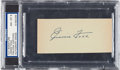 Baseball Collectibles:Others, 1950's Jimmie Foxx Signed Cut, PSA/DNA NM-MT 8. ...