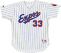 Baseball Collectibles:Uniforms, 1992 Larry Walker Game Worn Montreal Expos Jersey....