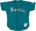 Baseball Collectibles:Uniforms, 1996 Jay Buhner Game Worn Seattle Mariners Jersey....