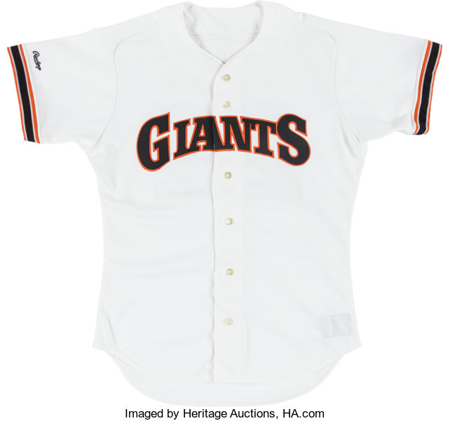 new styles 164ed 662f2 1988 Will Clark Game Worn San Francisco Giants Jersey ...