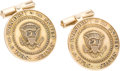 Miscellaneous, United States Presidential Presentation Gold Cuff Links. ...