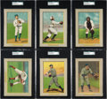 Baseball Cards:Lots, 1910-11 T3 Turkey Red SGC Graded Collection (6). ...