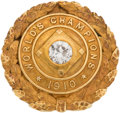 Baseball Collectibles:Others, 1910 Philadelphia Athletics World Championship Award Pin Presented to Outfielder Bristol Lord....