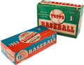 Baseball Cards:Unopened Packs/Display Boxes, Topps 1953 (Dated) and 1954 Topps (Undated) Empty Wax Box Pair (2)....