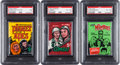 Non-Sport Cards:Unopened Packs/Display Boxes, 1960's Non-Sports PSA Graded Unopened Wax Pack Trio (3). ...
