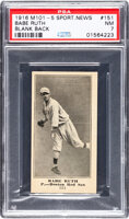 Featured item image of 1916 M101-5 Blank Back (Sporting News) Babe Ruth Rookie #151 PSA NM 7.  ...