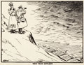 Works on Paper, David Low (New Zealander, 1892-1963). New Year Outlook, political cartoon, December 1940. Ink and crayon on paper. 14 x ...