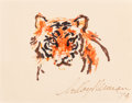 Mainstream Illustration, LeRoy Neiman (American, 1921-2012). Tiger, 1974. Marker onpaper. 7.5 x 9.5 in. (sight). Signed and dated lower right. ...(Total: 2 Items)