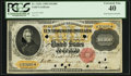 Large Size:Gold Certificates, Fr. 1225e $10,000 1900 Gold Certificate PCGS Extremely Fine 40.. ...
