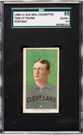 Baseball Cards:Singles (Pre-1930), 1909-11 T206 Old Mill Cy Young (Portrait) SGC 55 VG/EX+ 4.5. ...