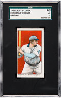 Baseball Cards:Singles (Pre-1930), 1909 E92 Croft's Cocoa Honus Wagner SGC 40 VG 3 - Only Two SGCConfirmed Examples. ...
