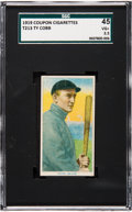 Baseball Cards:Singles (Pre-1930), 1919 T213-3 Coupon Type 3 Ty Cobb (Bat Off Shoulder) SGC 45 VG+3.5. ...