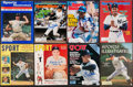 Baseball Collectibles:Publications, New York Greats Signed Vintage Magazines Lot of 8....