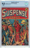 Golden Age (1938-1955):Superhero, Suspense Comics #3 Mile High Pedigree (Continental Magazines, 1944) CBCS NM- 9.2 White pages....