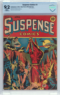 Suspense Comics #3 Mile High Pedigree (Continental Magazines, 1944) CBCS NM- 9.2 White pages