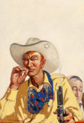 Mainstream Illustration, Henry Cruse Murphy (American, 1886-1931). Red Rio Ranchers,Frontier Stories magazine cover, December 1929. Oil on canva...