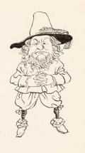 Mainstream Illustration, Arthur Rackham (British, 1867-1939). Rip Van Winkle, interiorbook illustration, 1916. Ink on paper. 4.5 x 2.5 in. (imag...