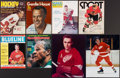Hockey Collectibles:Publications, Hockey Greats Signed Magazines/Photo Lot of 8....