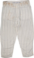 Baseball Collectibles:Uniforms, 1961 Mickey Mantle Game Worn New York Yankees Pants.. ...