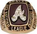 Baseball Collectibles:Others, 1991 Atlanta Braves National League Championship Ring Presented toBruce Dal Canton. ...
