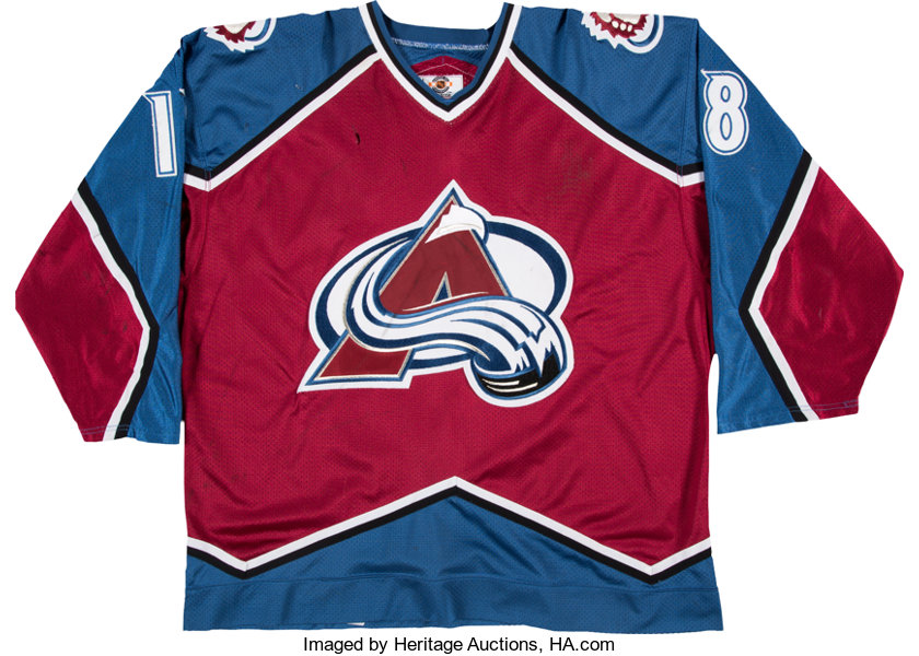 size 40 996a3 978d2 1998-99 Adam Deadmarsh Game Worn, Signed Colorado Avalanche ...
