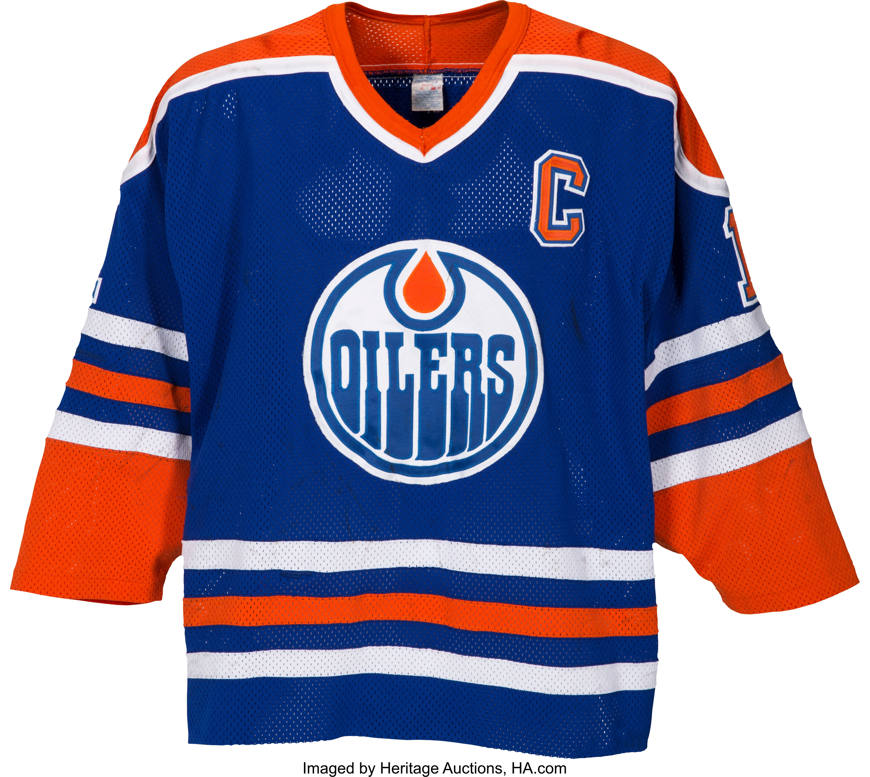 reputable site d4b6c 7bdc0 1989-90 Mark Messier Game Worn Edmonton Oilers Jersey - With ...