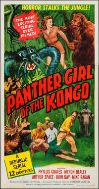 "Panther Girl of the Kongo (Republic, 1955). Three Sheet (41"" X 79.25""). Serial"