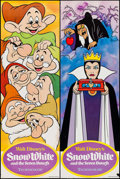"""Movie Posters:Animation, Snow White and the Seven Dwarfs (Buena Vista, R-1975). Door PanelSet of 4 (19.5"""" X 59""""). Animation.. ... (Total: 4 Items)"""