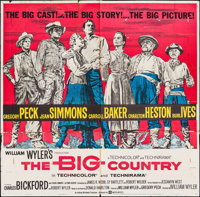 """The Big Country (United Artists, 1958). Six Sheet (79"""" X 78.5""""). Western"""