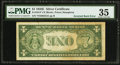 Error Notes:Inverted Reverses, Fr. 1614* $1 1935E Silver Certificate Star. PMG Choice Very Fine35.. ...