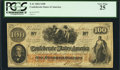 Confederate Notes:1862 Issues, Hawkins Manuscript T41 $100 1862.. ...