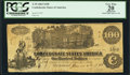 "Confederate Notes:1862 Issues, ""H.H."" penned on back T39 $100 1862.. ..."