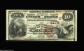 National Bank Notes:Missouri, Saint Louis, MO - $10 1882 Brown Back Fr. 484 The NB of CommerceCh. # (M)4178. A well margined Very Fine $10 Brown ...