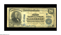 Wanette, OK - $20 1902 Plain Back Fr. 652 The First NB Ch. # (W)6641 This newly discovered item represents one of the m...