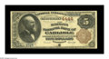 National Bank Notes:Pennsylvania, Carlisle, PA - $5 1882 Brown Back Fr. 471 The Merchants NB Ch. #4444 Although two banks issued from this Cumberland C...