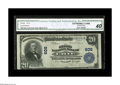 National Bank Notes:Pennsylvania, Erie, PA - $20 1902 Plain Back Fr. 650 The Second NB Ch. # 606.This CGA graded Extremely Fine 40 note exhibits exc...