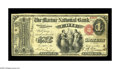 National Bank Notes:Pennsylvania, Erie, PA - $1 Original Fr. 380 The Marine NB Ch. # 870. A veryscarce early note from this long lived bank. The Kelly ce...