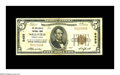 National Bank Notes:Pennsylvania, Wellsville, PA - $5 1929 Ty. 1 The Wellsville NB Ch. # 8498. Asolid Very Fine from the only issuer located here. Fr...