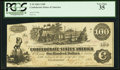 Confederate Notes:1862 Issues, Unknown Depositary Manuscript T39 $100 1862.. ...