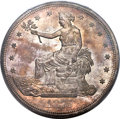 Trade Dollars, 1875 T$1 Type Two Reverse MS63 PCGS. CAC....