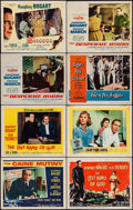"""Movie Posters:War, The Caine Mutiny & Others Lot (Columbia, 1954). Lobby Cards (7)& Title Card (11"""" X 14""""). War.. ... (Total: 8 Items)"""