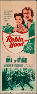 "Movie Posters:Swashbuckler, The Adventures of Robin Hood (Dominant, R-1956). Insert (14"" X 36""). Swashbuckler.. ..."