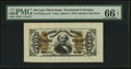 Fractional Currency:Third Issue, Fr. 1324SP 50¢ Third Issue Spinner Wide Margin Face PMG Gem Uncirculated 66 EPQ.. ...