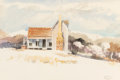 , Ancel E. Nunn (American, 1928-1999). Study of a House, 1972. Watercolor on paper. 14 x 20-3/4 inches (35.6 x 52.7 cm) (s...