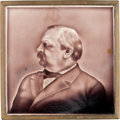 Political, Grover Cleveland: Bas-relief Portrait Tile....