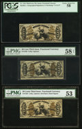 Fractional Currency:Third Issue, Three Very Nice Third Issue Justice Notes. ... (Total: 3 notes)
