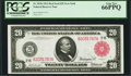 Fr. 953b $20 1914 Red Seal Federal Reserve Note PCGS Gem New 66PPQ