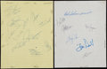 Baseball Collectibles:Others, Collection of Signed Team Sheets & Index Cards. ...